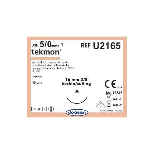 Tekmon suturer Monofilament 5/0